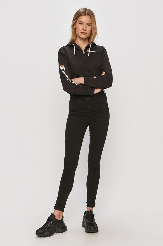 Champion - Bavlnená mikina čierna