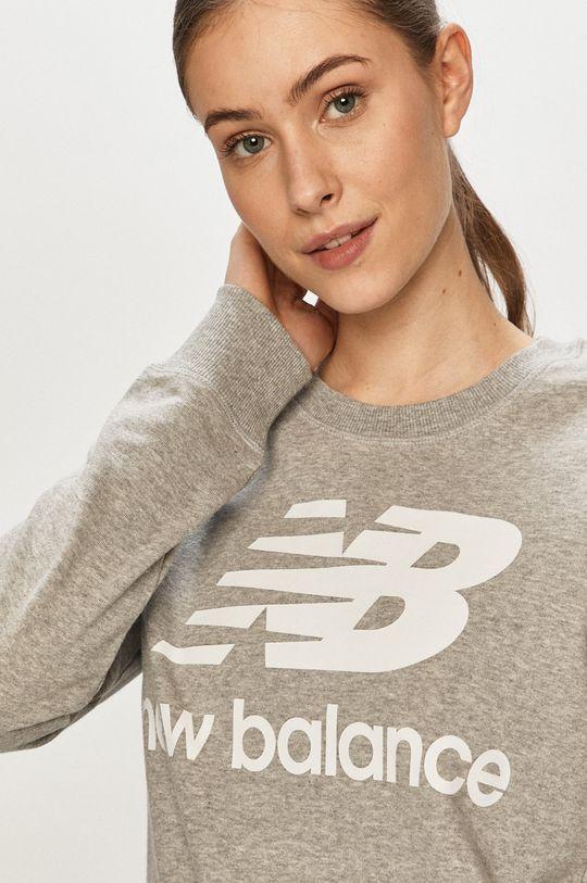 szary New Balance - Bluza
