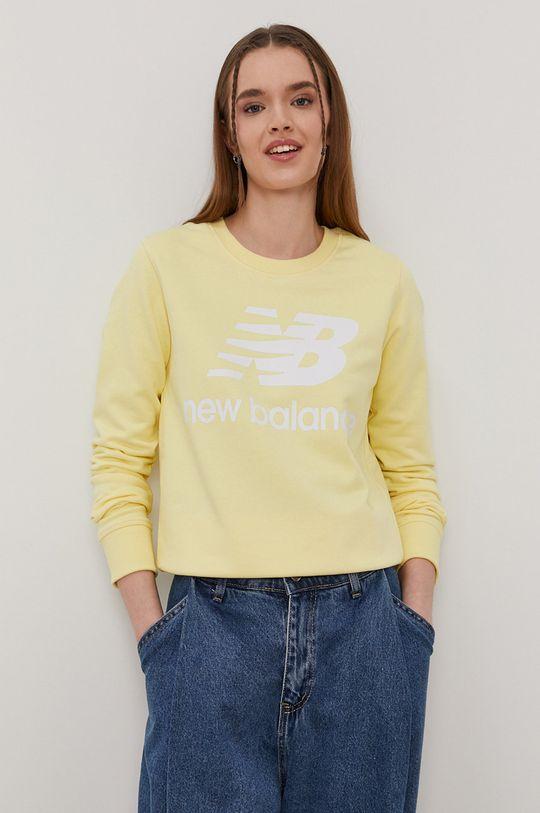 jasny żółty New Balance - Bluza Damski