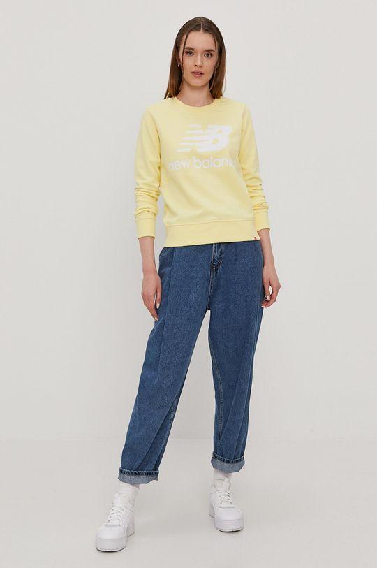 New Balance - Bluza jasny żółty