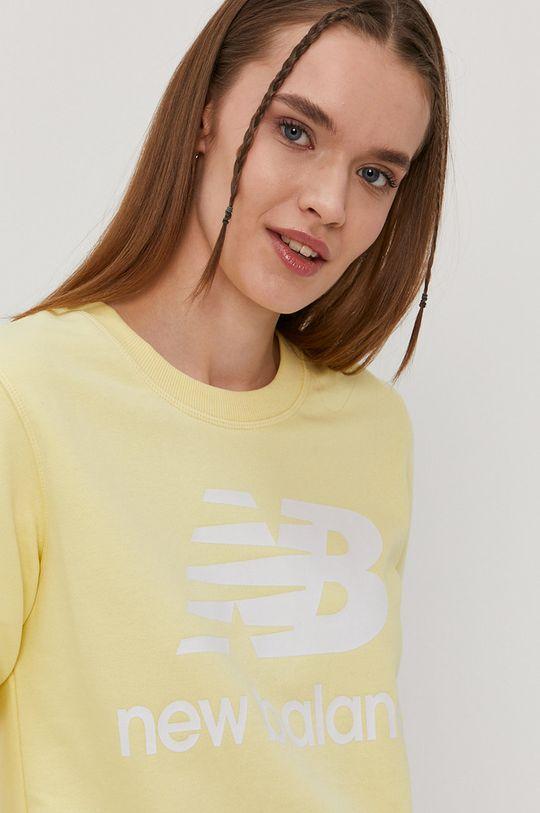 jasny żółty New Balance - Bluza