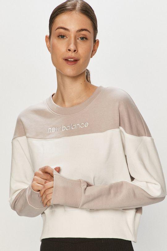 New Balance - Bluza bawełniana lawendowy