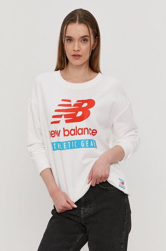 biały New Balance - Bluza Damski