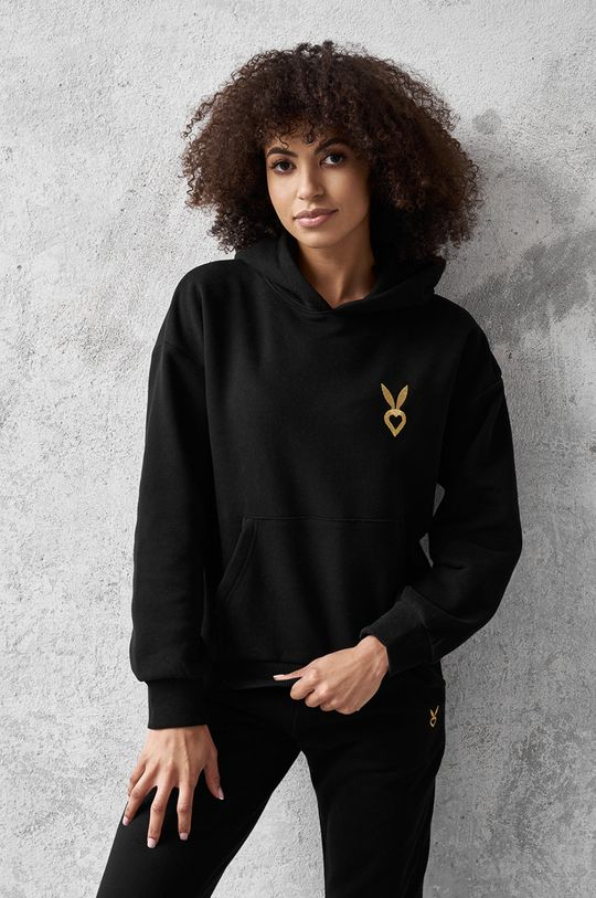 czarny Cardio Bunny - Bluza ALAIA