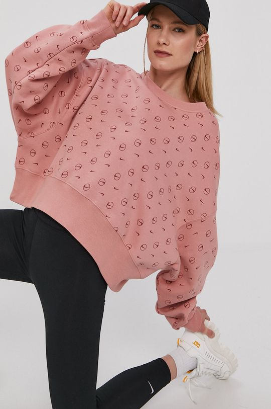 sýto ružová Nike Sportswear - Mikina Dámsky