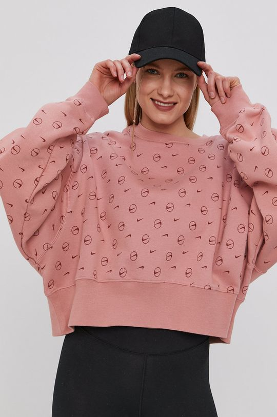 sýto ružová Nike Sportswear - Mikina