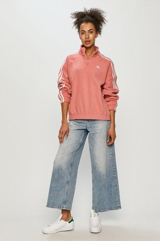 adidas Originals - Mikina ostrá růžová