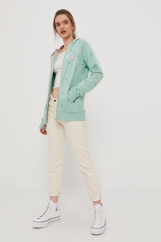 Femi Stories - Bluza bawełniana Harun zielony