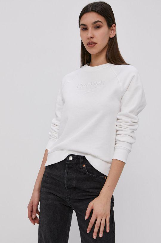 biały Reebok Classic - Bluza bawełniana Damski