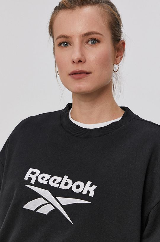 czarny Reebok - Bluza