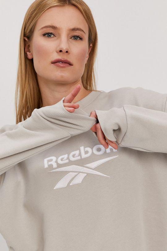 piesková Reebok - Bavlnená mikina