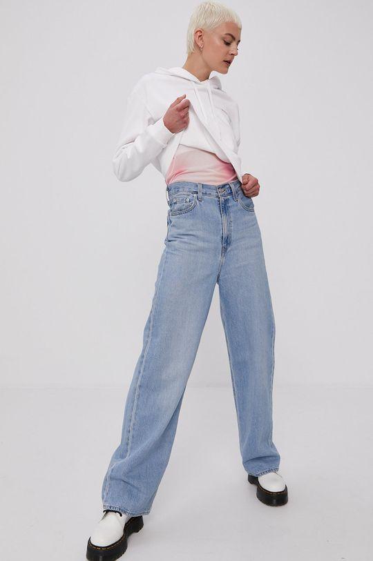Calvin Klein Jeans - Bavlnená mikina biela