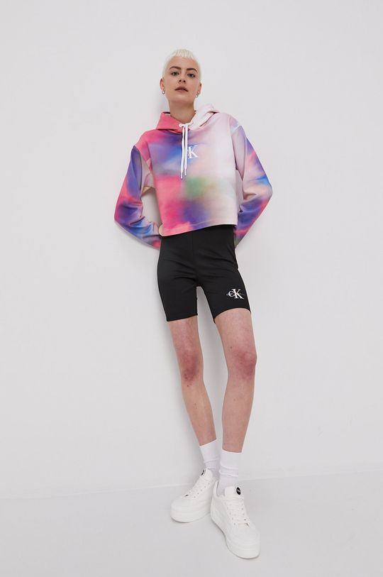 viacfarebná Calvin Klein Jeans - Bavlnená mikina
