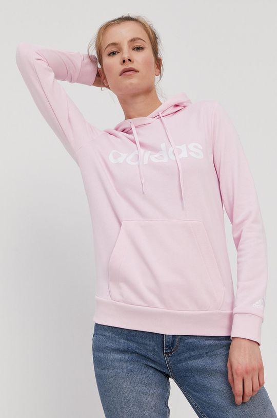 pastelová ružová adidas - Mikina Dámsky