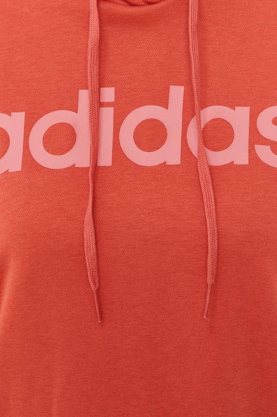 koralowy adidas - Bluza