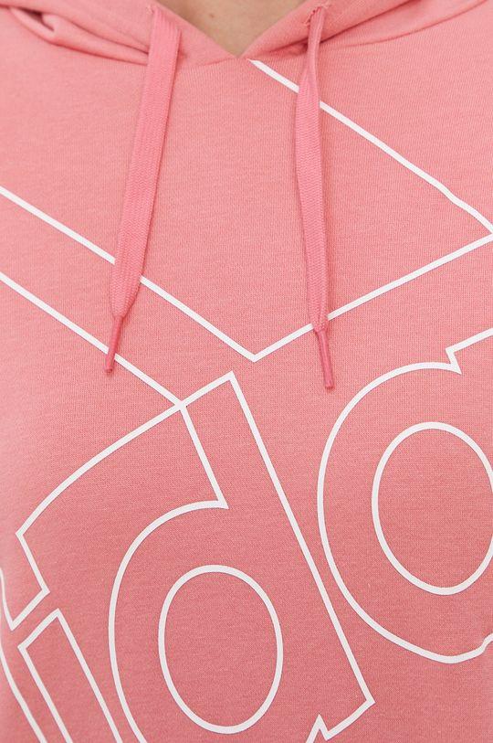 różowy adidas - Bluza