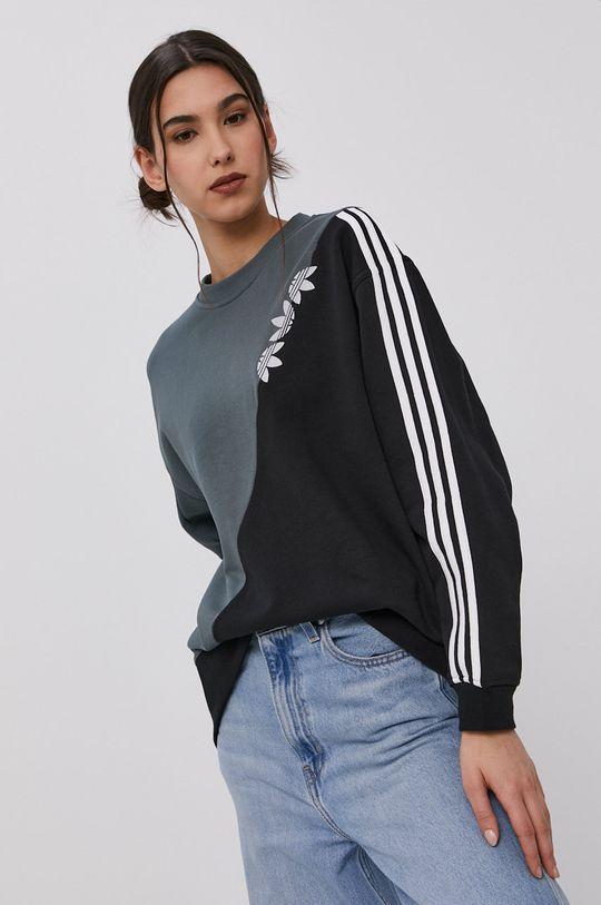 niebieski adidas Originals - Bluza bawełniana Damski