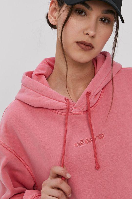 różowy adidas Originals - Bluza