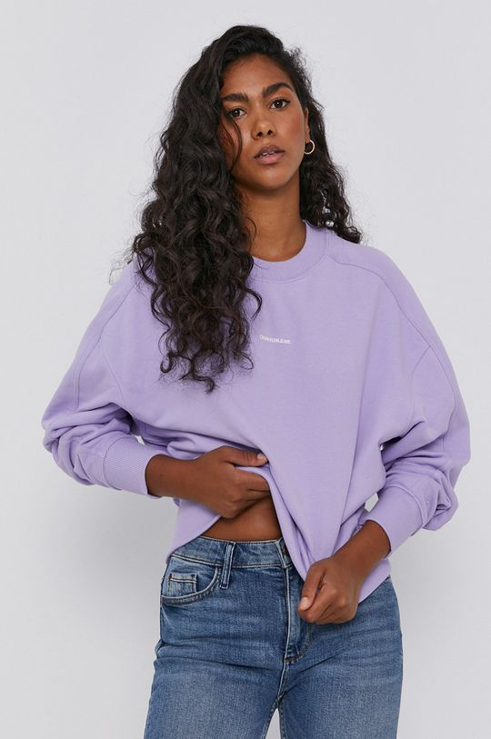 winogronowy Calvin Klein Jeans - Bluza Damski