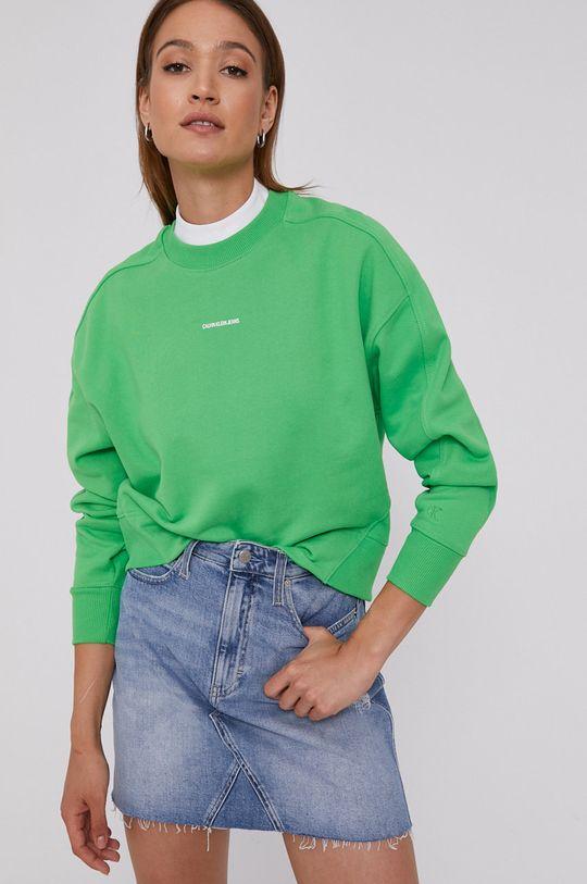 żółto - zielony Calvin Klein Jeans - Bluza Damski