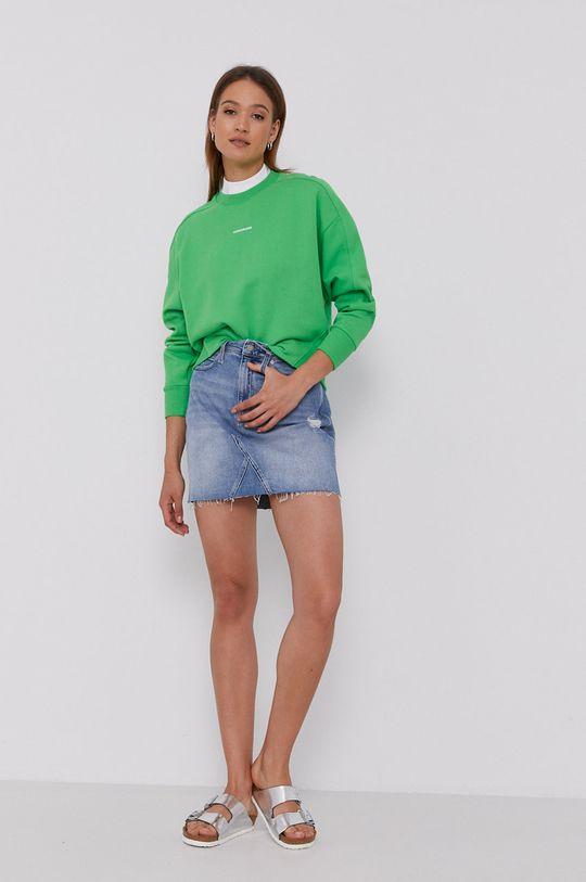 Calvin Klein Jeans - Bluza żółto - zielony