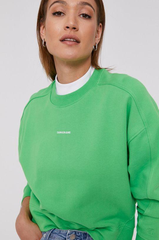 żółto - zielony Calvin Klein Jeans - Bluza