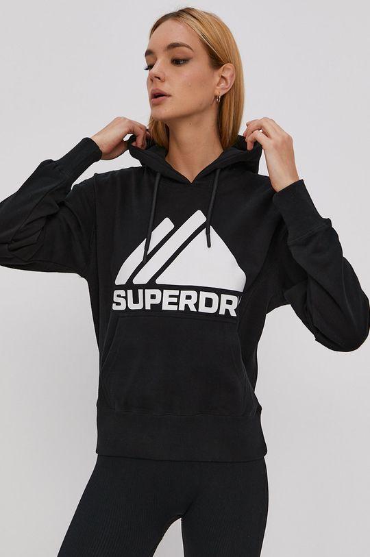 čierna Superdry - Bavlnená mikina Dámsky