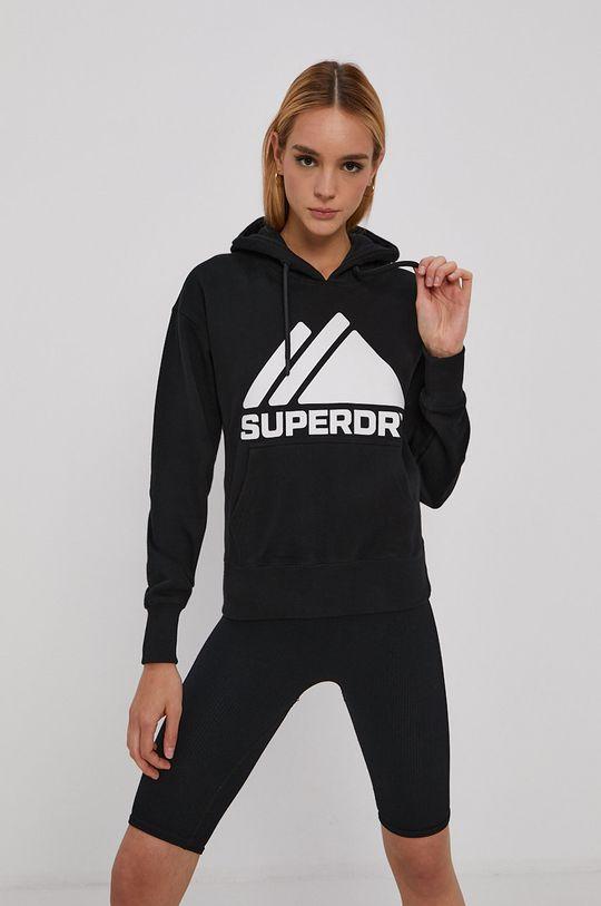 Superdry - Bavlnená mikina čierna