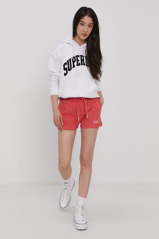 Superdry - Bavlnená mikina biela