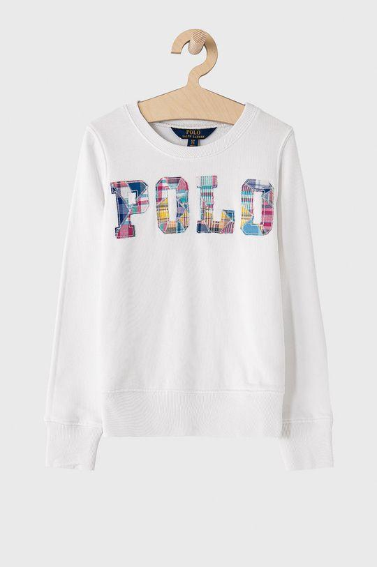 bílá Polo Ralph Lauren - Dětská bavlněná mikina 128-176 cm Dívčí