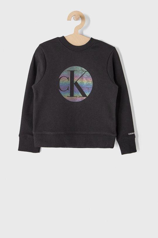 czarny Calvin Klein Jeans - Bluza bawełniana dziecięca 104-176 cm Dziewczęcy