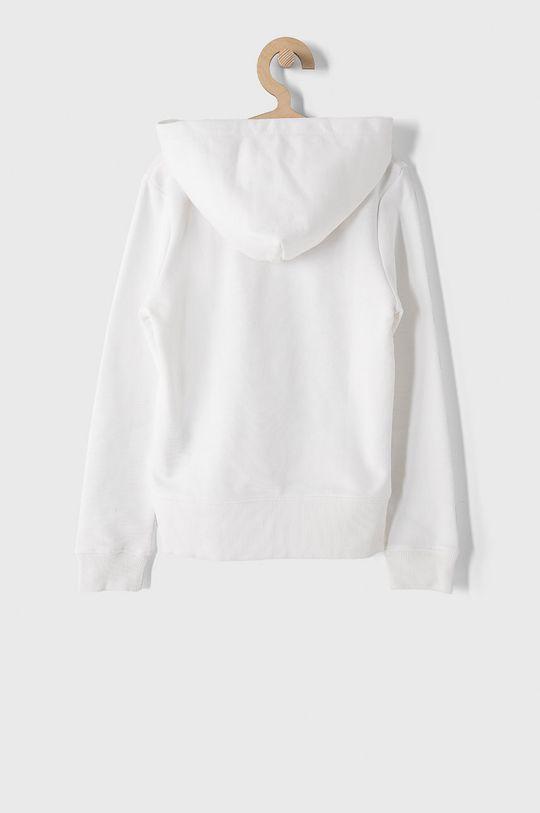 Calvin Klein Jeans - Hanorac de bumbac pentru copii 128-176 cm alb