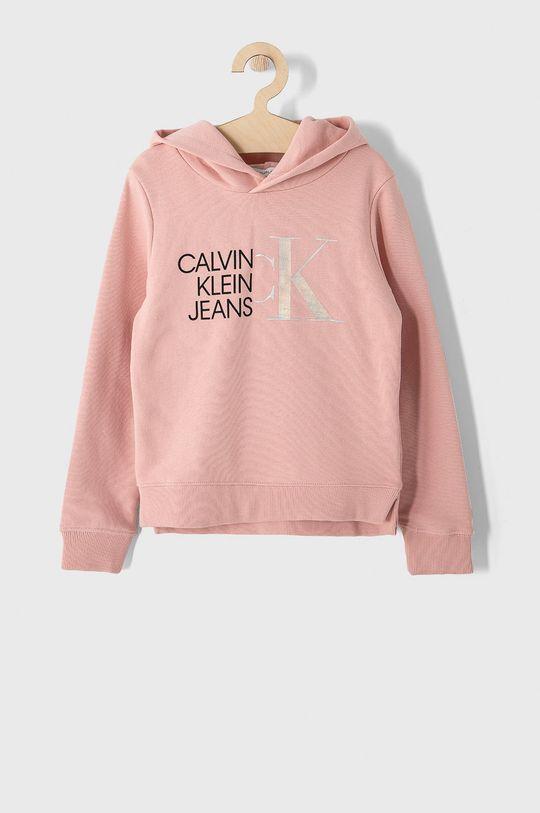 růžová Calvin Klein Jeans - Dětská bavlněná mikina 128-176 cm Dívčí