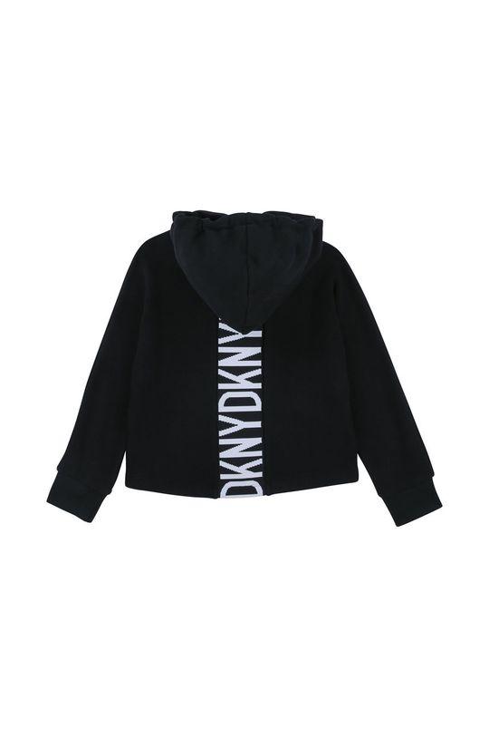 Dkny - Bluza bawełniana dziecięca 126-150 cm czarny