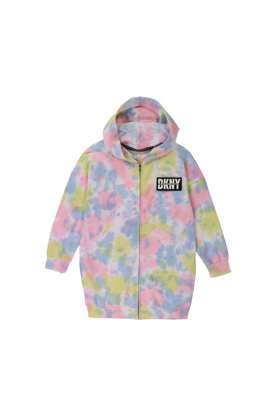multicolor Dkny - Bluza bawełniana dziecięca Dziewczęcy