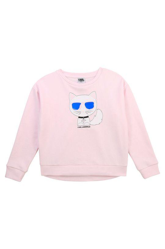 pastelově růžová Karl Lagerfeld - Dětská mikina Dívčí