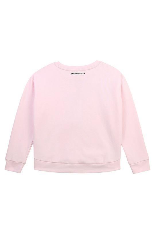 Karl Lagerfeld - Dětská mikina pastelově růžová