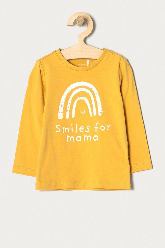 żółty Name it - Longsleeve dziecięcy 56-86 cm Dziewczęcy
