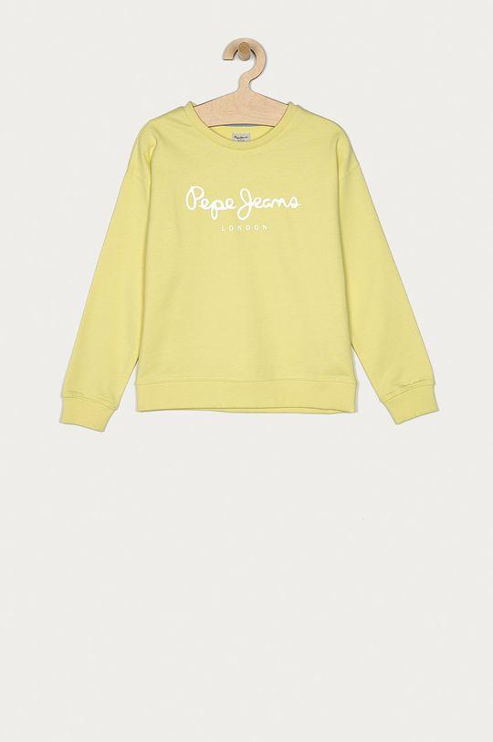 žlutě zelená Pepe Jeans - Dětská bavlněná mikina Rose 128-180 cm Dívčí