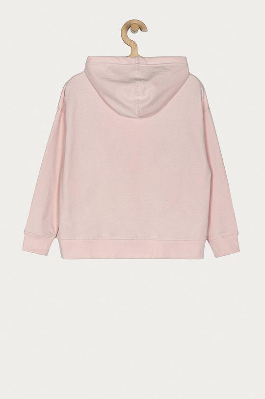 Pepe Jeans - Hanorac de bumbac pentru copii Ruth 128-180 cm roz pastelat