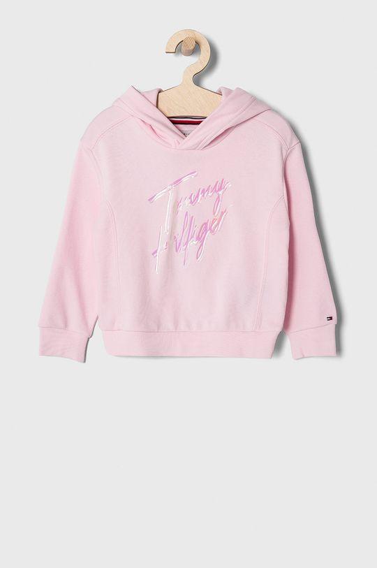 pastelově růžová Tommy Hilfiger - Dětská mikina 98-176 cm Dívčí