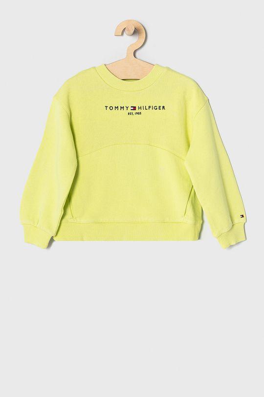 żółto - zielony Tommy Hilfiger - Bluza dziecięca 110-176 cm Dziewczęcy