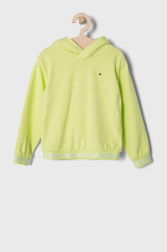 žlutě zelená Tommy Hilfiger - Dětská mikina 110-176 cm Dívčí