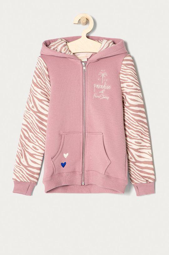 pastelowy różowy Femi Stories - Bluza dziecięca Zippa 116-158 cm Dziewczęcy