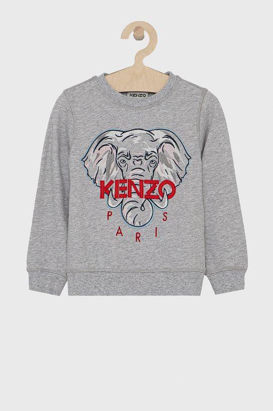 szary KENZO KIDS - Bluza bawełniana dziecięca 104-116 cm Dziewczęcy
