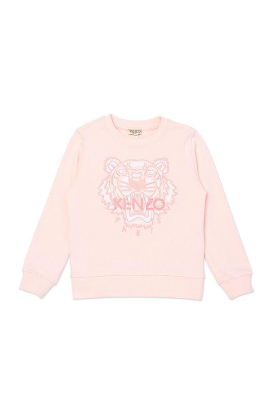 pastelowy różowy KENZO KIDS - Bluza dziecięca 164 cm Dziewczęcy