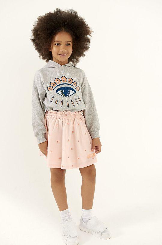jasny szary KENZO KIDS - Bluza bawełniana dziecięca 158 cm Dziewczęcy