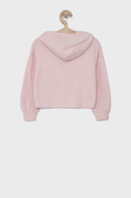 United Colors of Benetton - Bluza bawełniana dziecięca pastelowy różowy