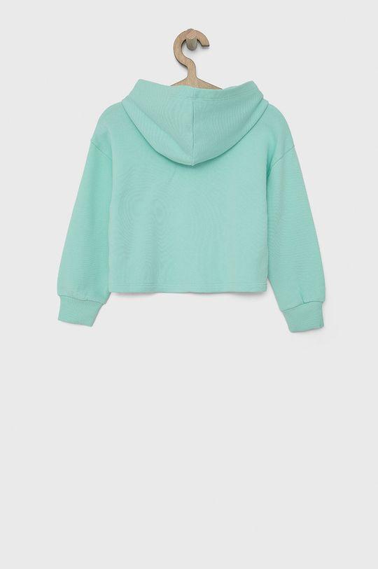 United Colors of Benetton - Bluza bawełniana dziecięca turkusowy