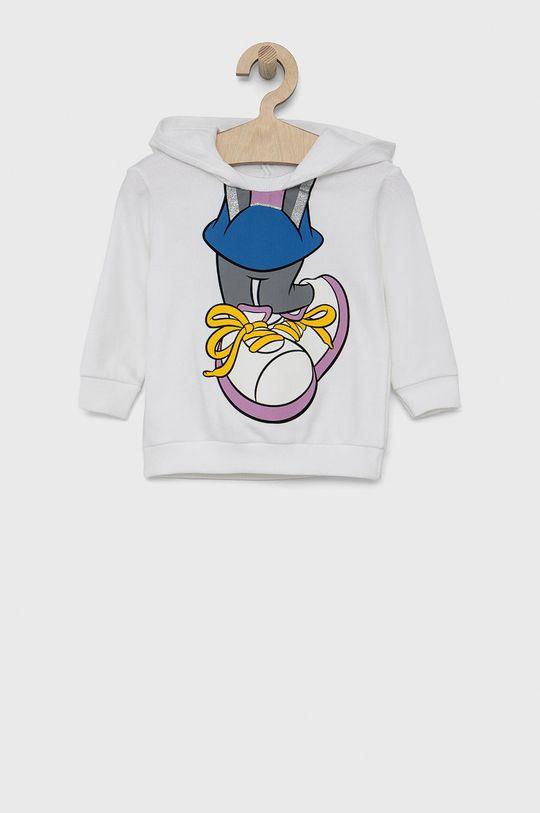 bílá United Colors of Benetton - Dětská bavlněná mikina x Disney Dívčí